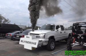 duramax pulling truck glycerine