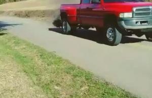 Red-Truck-Black-Smoke