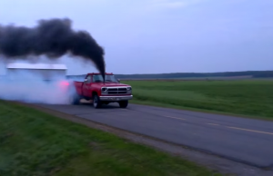 HUGE 1st Gen Cummins Burnout