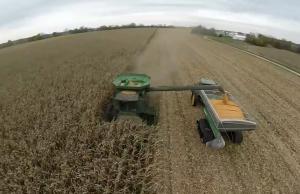 loading a grain cart backwards