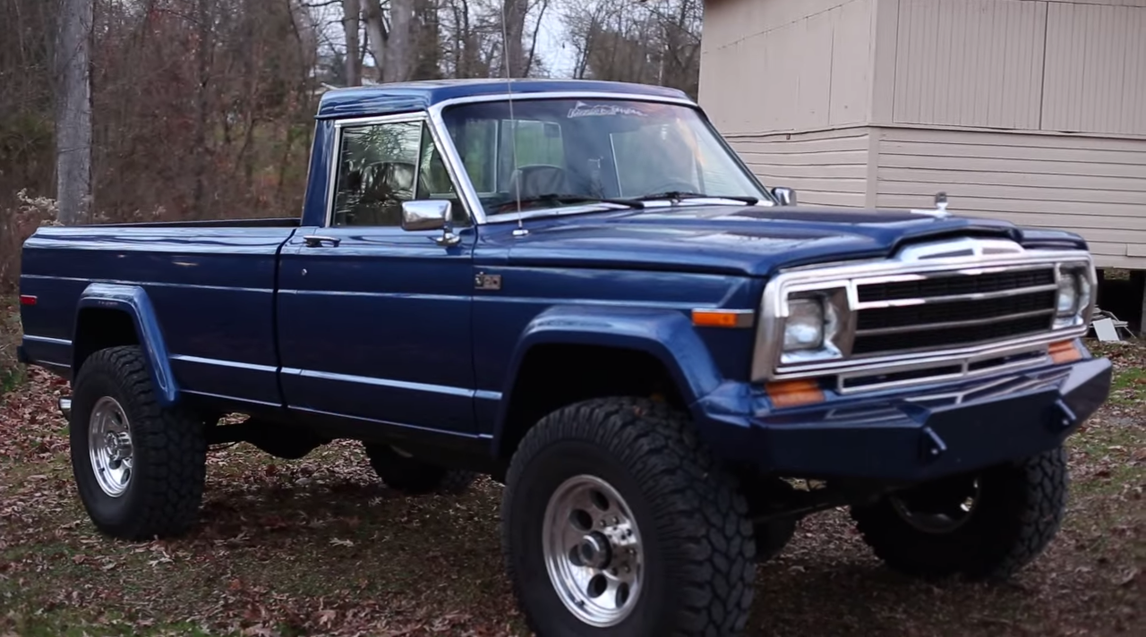 You Have To See This 6BT Cummins Turbo Diesel Jeep J20 ...