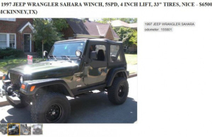 texas man craigslist jeep