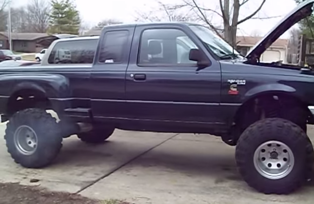 Ford Ranger Exhaust Tip >> You Have To See This Cummins Diesel Ford Ranger On Super ...