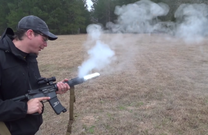 cooking bacon with an m16