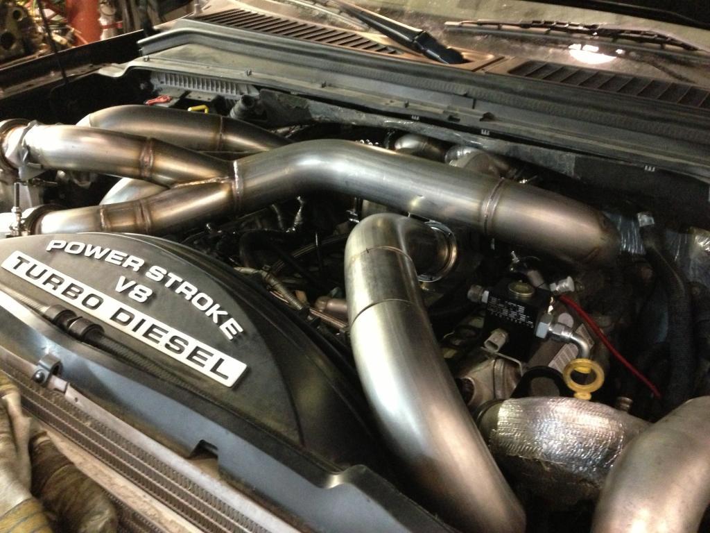 triple turbo 6.4 powerstroke
