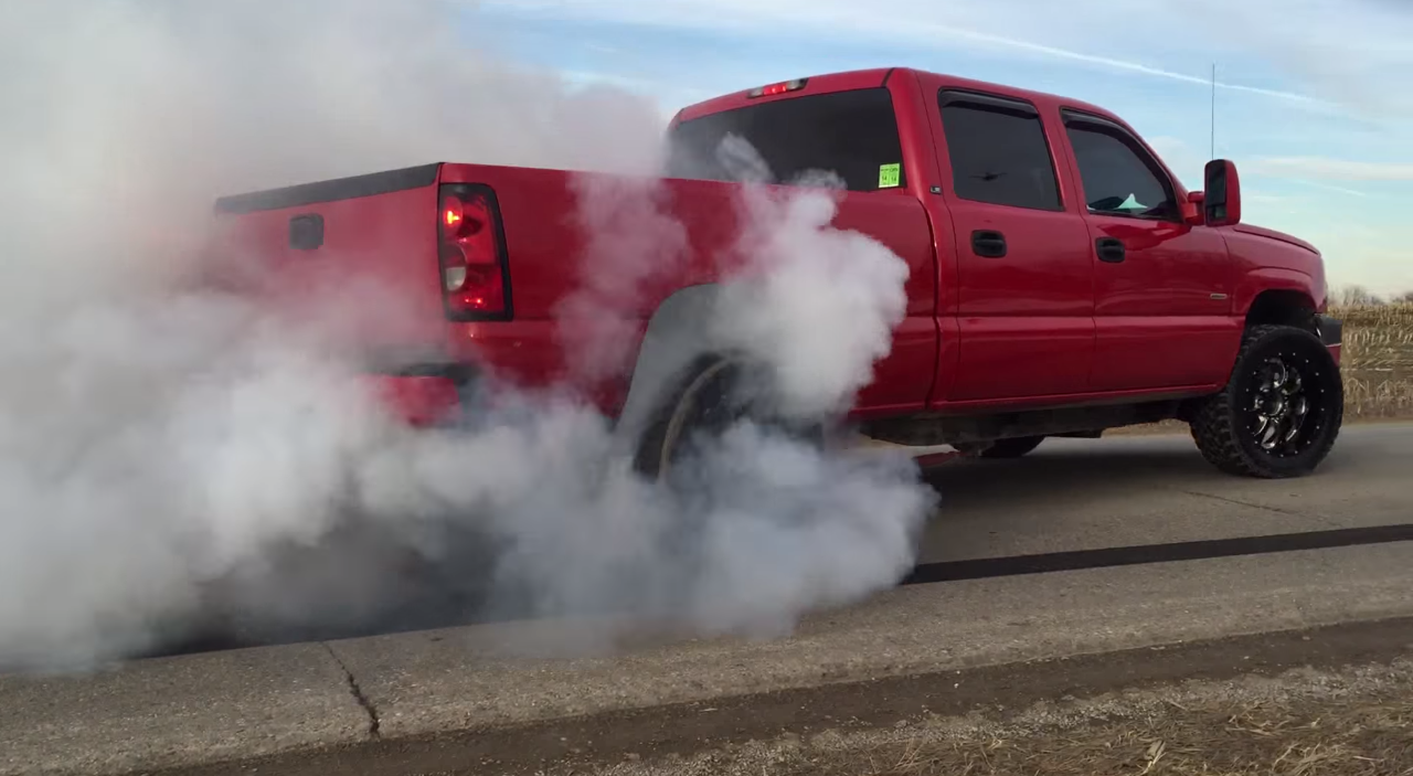 Check Out This 2005 LLY Duramax Burning Off A Set Of Toyo ...
