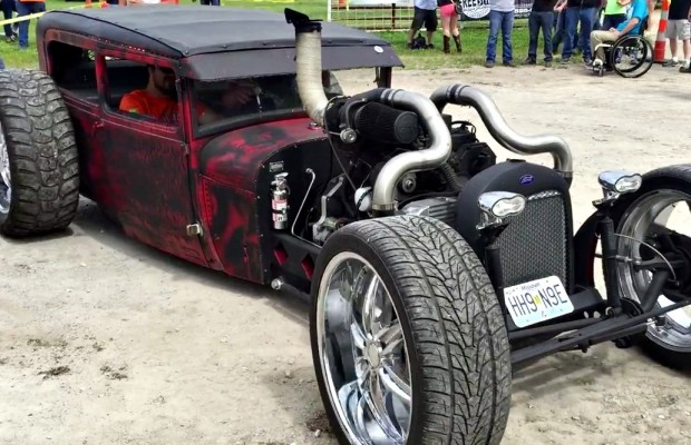 Peterbilt Golf Cart >> Love It Or Hate It? Check Out This Bagged 4BT Cummins Rat Rod - Black Smoke Media