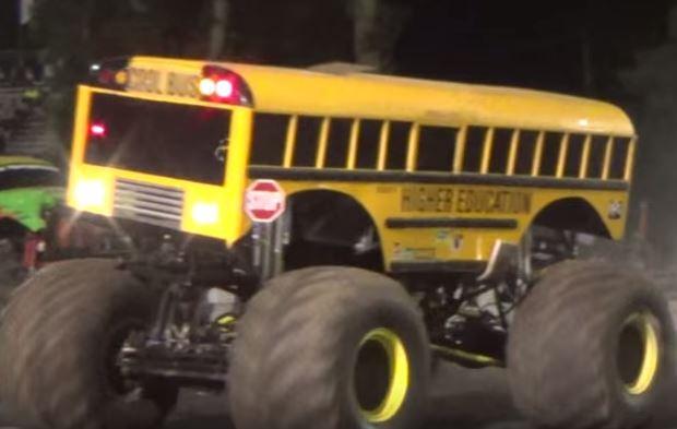 Best Snow Tires >> Watch This Monster Truck School Bus in Action! - Black Smoke Media