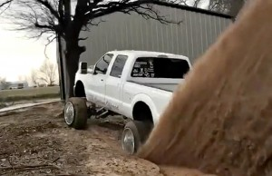 roll coal diesel truck cummins lifted