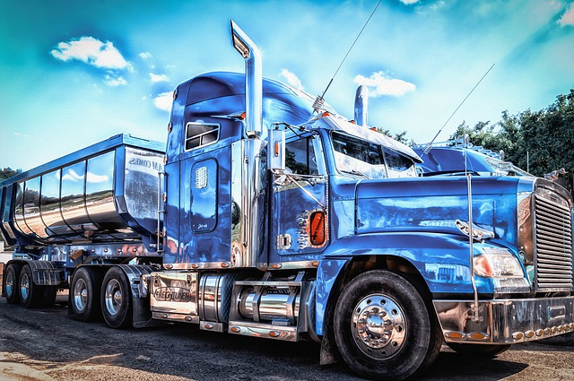 Photo of a blue truck