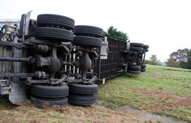 truck sideways