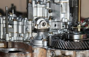 Photo of a transmission of a truck